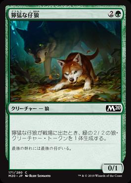 獰猛な仔狼
